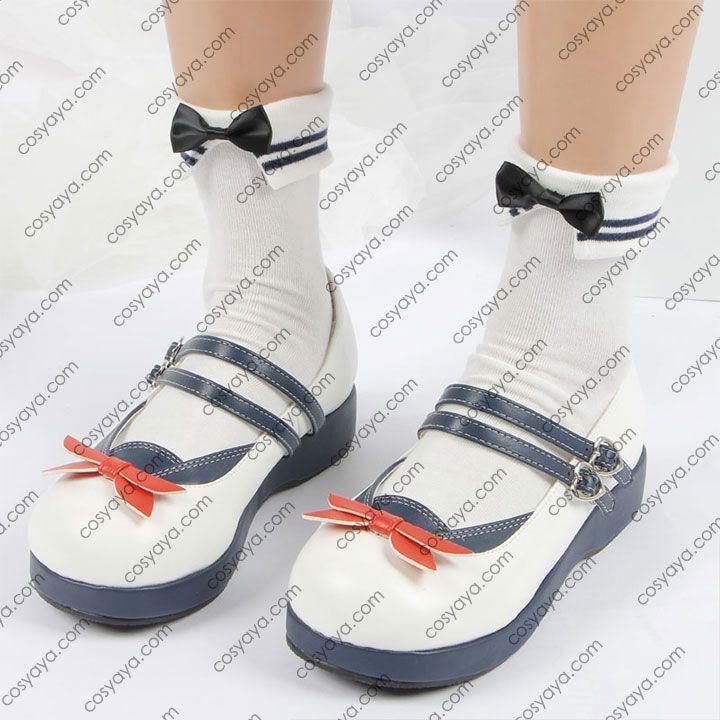 大人気 JK セーラー服風 靴 かわいい 海軍風 厚底シューズ