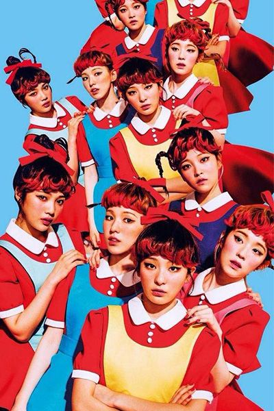 Red Velvet Drop Dumb Dumbダンス制服