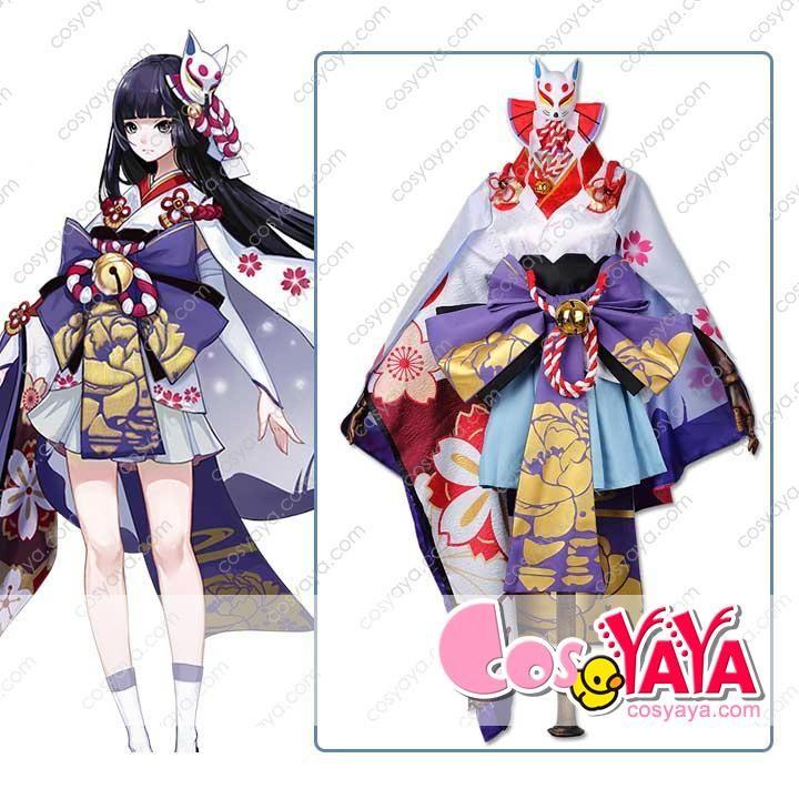雪女 月見の桜コスプレ衣装 陰陽師